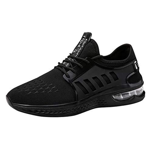 REALIKE Herren Student Schuhe Laufschuhe Mode Luftkissen Dämpfung rutschfeste Atmungsaktiv Sportschuhe Outdoor Turnschuhe Leichte Sneaker Trekking Fitness Gym Leichtes Bequem Schuhe