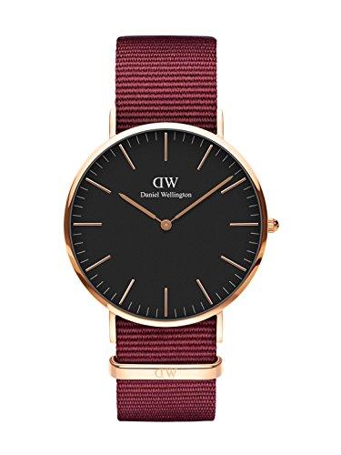 Daniel Wellington Classic Roselyn, Rubinrot/Roségold Uhr, 40mm, NATO, für Herren