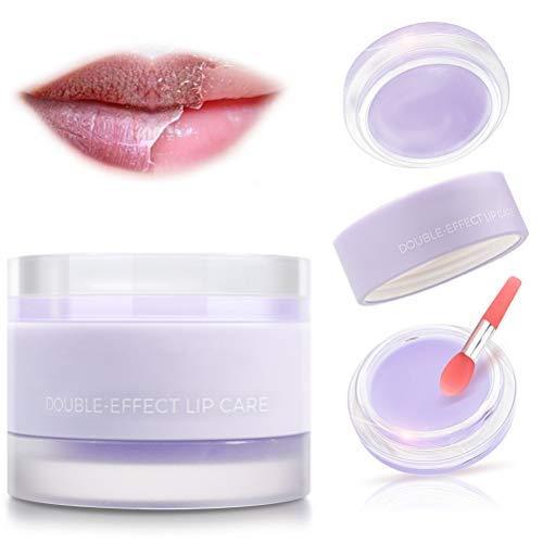 OUTEYE Lip Sleep Mask Exfoliante Labial Bálsamo Labial para Dormir para hidratar y resecar los Labios agrietados
