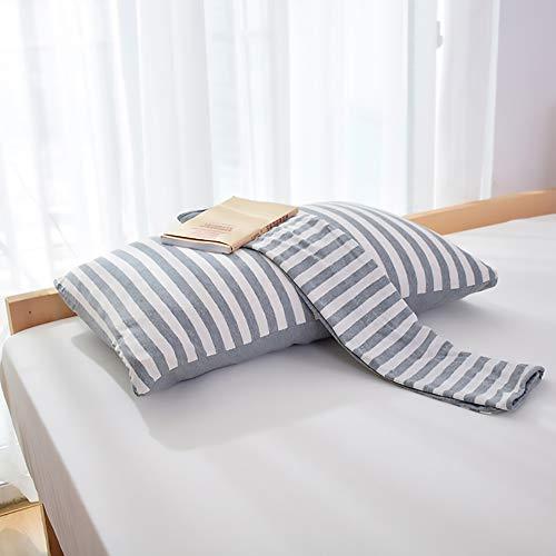 Cotton Knit kussensloop, Grijs Anti-Rimpel Anti-Fading zacht en duurzaam makkelijk te verzorgen Standard kussensloop, envelopverzegeling Ontwerp uitneembare en wasbare, 48 * 74cm