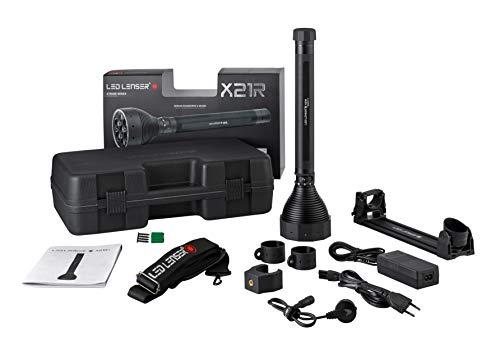 Ledlenser X21R LED Taschenlampe, extrem helle 5000 Lumen, 40 Stunden Laufzeit, wiederaufladbar, robustes Metallgehäuse, fokussierbar, inkl. Akkusatz