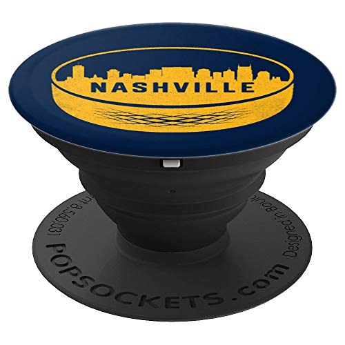 Vintage Nashville Tennessee Cityscape Hockey Retro PopSockets Grip and Stand for Phones and Tablets