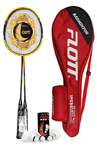 YoungLA Badminton Rackets for Adults & Professionals | with Shuttlecocks and Carrying Bag | 0529