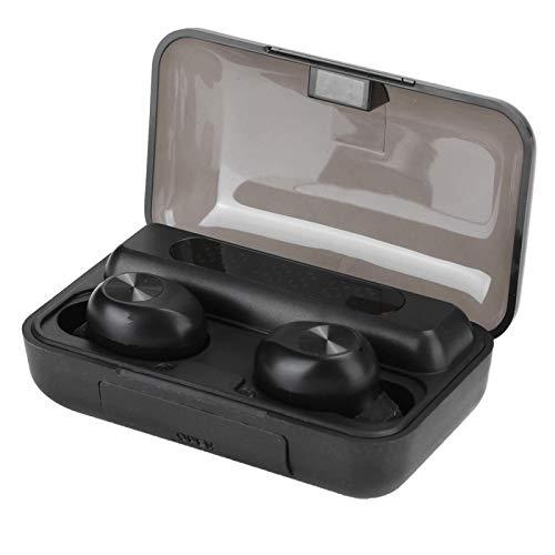 FOLOSAFENAR Auricular inalámbrico Bluetooth 5.0 Portátil Cvc8.0 Inducción de succión magnética Bluetooth 5.0 Reducción de Ruido del Auricular, para Escuchar