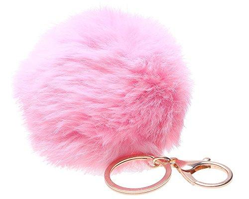Lifecart - Portachiavi, motivo: coniglio, colore: rosa