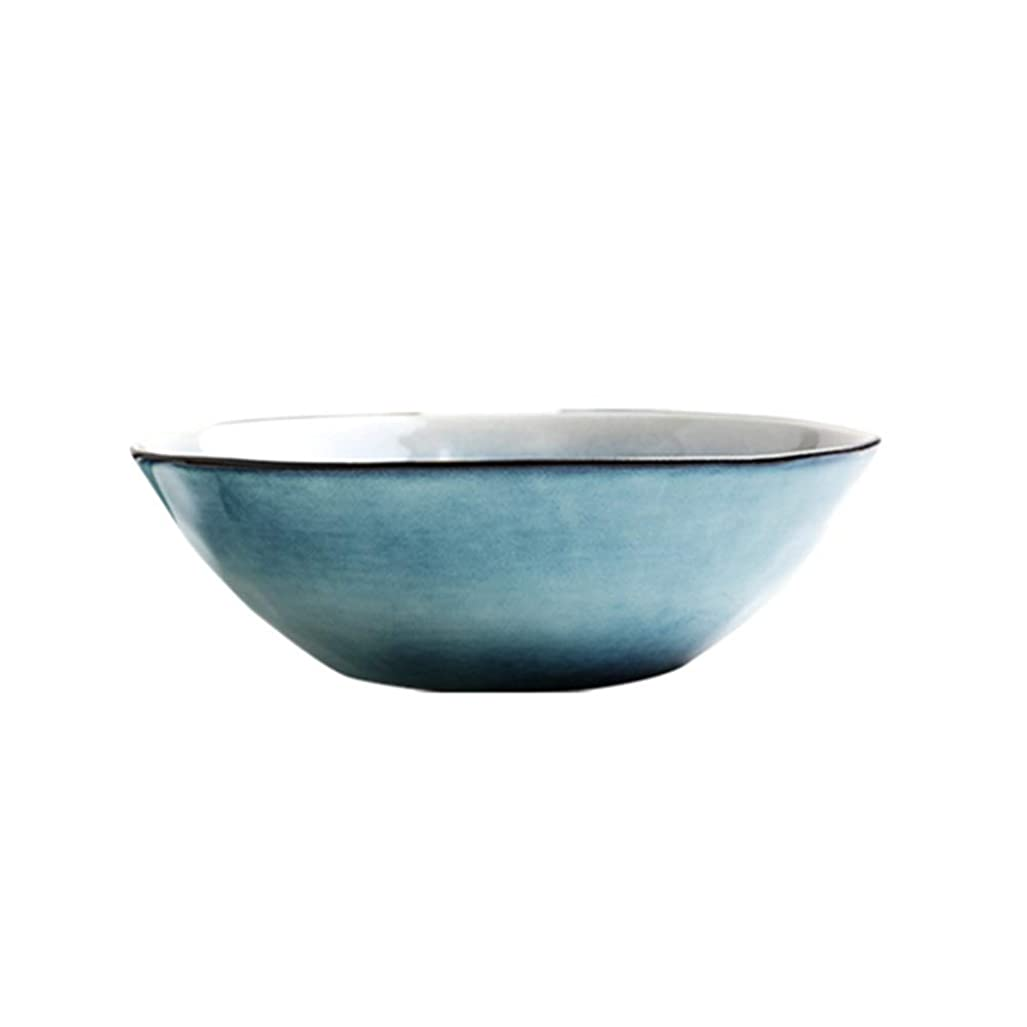 航空便行う抵抗北欧風色家庭用洋風陶器丼スープ丼皿器丼食器 (Color : 6912008190)