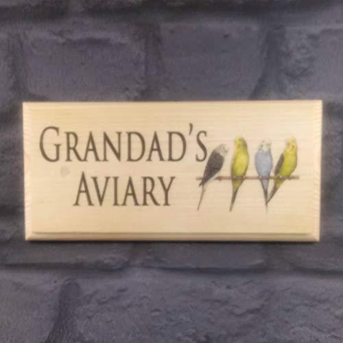 Grandads Aviary Sign, Custom Bird Shed Sign, Grandad Bird House Gif