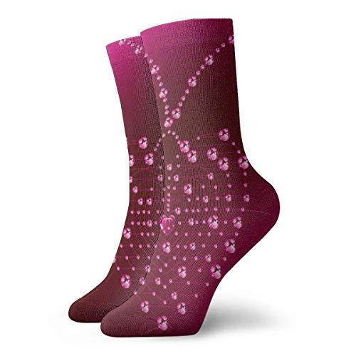 Socks Calcetines Rote Herzform Calcetines cortos unisex para adultos que absorben la humedad atléticos para correr, fitness, viajes, trabajo
