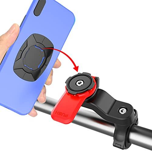 Quad Lock Out Front Bike Mount, 360 draaibare verstelbare anti-shake Eenvoudig te installeren Mountain Cradle Fietsen Telefoon Houder Apparaat Geschikt voor 4,7 tot 7,2 inch telefoons