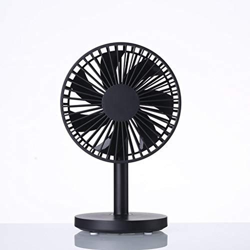 RXL Mudo Mini Ventilador (Cuatro Colores Opcionales) Mesa de Escritorio de Oficina USB de plástico Micro portátil portátil Dormitorio Cama Mute Big Wind Fan 20 * 12.7 * 10 cm Pequeña (Color : Black)