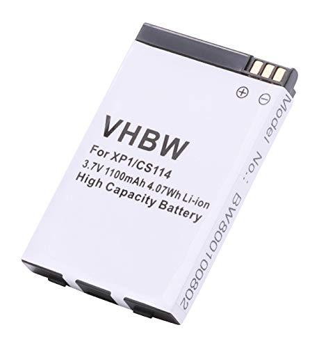 vhbw Li-Ion Akku 1100mAh (3.7V) für Handy, Smartphone, Telefon Socketmobile JCB Toughphone, Sonim XP1, XP1 BT wie 8E0604001, XP1-0001100