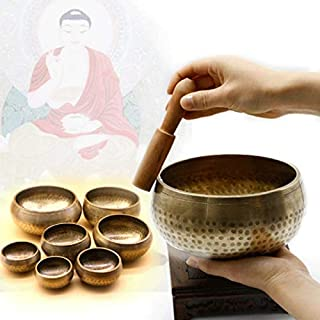 JJZXD Singing and Relaxing Sound Decoration Board Buddha Sound Yoga Meditation Buddha Sound Tibetan Bowl (Size : 8.5cm)