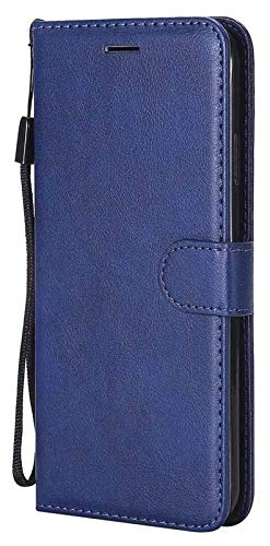 Accesorios para teléfonos celulares para Huawei P40 Pro P30 P20 P10 Lite, Funda de billetera de cuero para Huawei P Smart Honor 9 10 Lite 8S 8A 8 Y5 (Color: Azul, Material: P30) Caja Impermeable a Pru