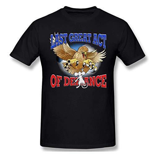 IUBBKI Camiseta básica de Manga Corta para Hombre Mens Print with Last Great Act of Defiance Fashion Short Sleeve T-Shirt