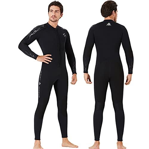 HWZZ Traje de neopreno con cremallera frontal de 3 mm para mujer mantiene el calor, la capa térmica es fácil de estirar y ligero, adecuado para buceo y surf en aguas profundas, color negro, M