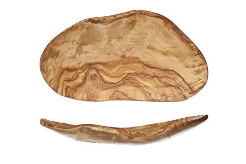 A-Fruitschaal Plat 23-28cmx10-16cm - Olijfhout (set van 3)