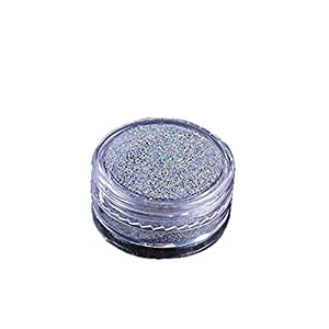 Weiqu Holographic Lasers Silvery Fine Glitter, Epoxy Resin Shiny Silver Festival Sequins Resin Jewelry Pigment Nail Art Powder, for DIY Jewelry Making