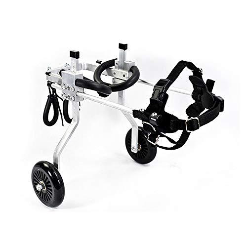 ZXPAG hond rolstoel/huisdier rolstoel/scooter handicap hond/huisdier auto hond forelimb verlamming reizen rolstoel hond karren -, XXS 1