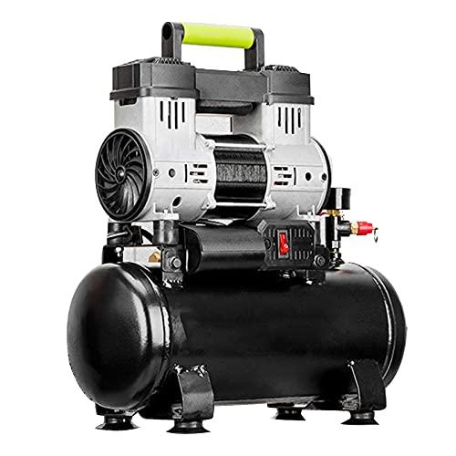 WUK Compresor de Aire 700 / 1280W Bomba de Aire portátil sin Aceite silenciosa 6 / 15L para el hogar Compresor de inflado de neumáticos Profesión Pintura en Aerosol Herramientas neumáticas dentales
