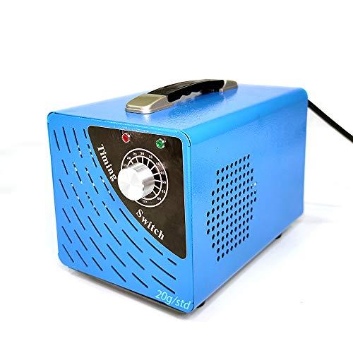 Ozongenerator Geruchskiller, Ozon Luftreiniger Ozongerät Ozonisator mit Timer für Zimmer (20.000mg/Std, Blau)