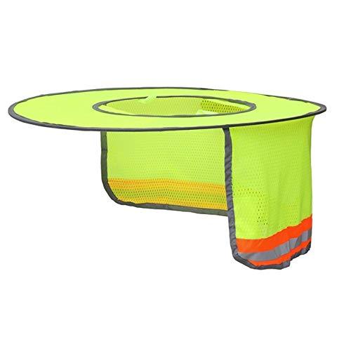 BIYI Hard Hat Sonnenschutz Neck Shield Sonnenschutz mit Reflexstreifen und gut sichtbarem Mesh-Design für Schutzhelme/Helme (Gelb)