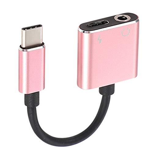 Stebela USB Tipo C del Cargador del Adaptador de Audio Cable 2 en 1 Tipo C para Jack de 3,5 mm para Auriculares Aux convertidor de Repuesto para Xiaomi