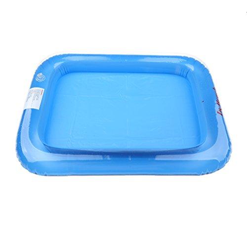 Aufblasbares Tablett Schwimmender aufblasbarer Swimmingpool Sommer Spielzeug - Blau