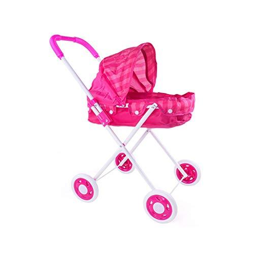 Carrito de juguete de muñecas bebé - Trolley de muñeca para niños Chicos y chicas Marco de hierro Engrosado Carrito de juguete de tela Oxford con simulador de juguete de muñeca renacida para uso