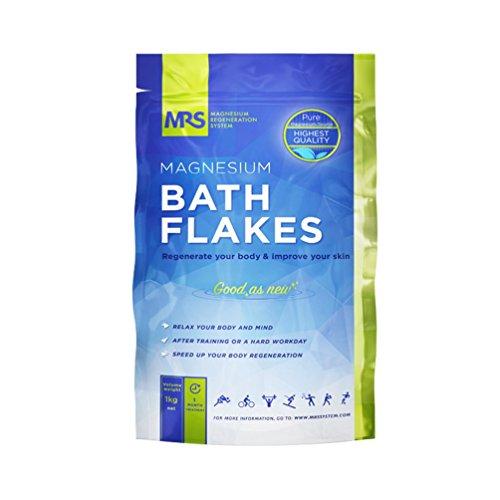 MRS Magnesium Flakes & Magnesiumflocken in feinster Premiumqualität – 100{1d906aa2bb91d056dc8c43b71944850d8ccb1d2f0b9faaebdc3e8f97e01eeb2e} naturbelassene Magnesiumchlorid Flocken – ideales Badesalz für ein Fußbad, Vollbad & gegen Magnesiummangel – 1 kg
