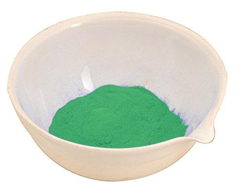 Runde Verdunstungsschale mit Ausgießer, 100 ml, Porzellan, 8,4 cm Außendurchmesser, 3,8 cm hoch
