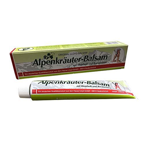 200ml LLOYD Weinlaub Alpenkräuter mit Rosskastanie, Massage & Wellnes Balsam, Creme, Salbe