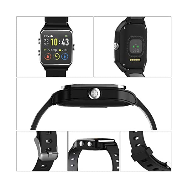 HolyHigh Reloj Inteligente Smartwatch Mujer Hombre Impermeable IP68 Pantalla
