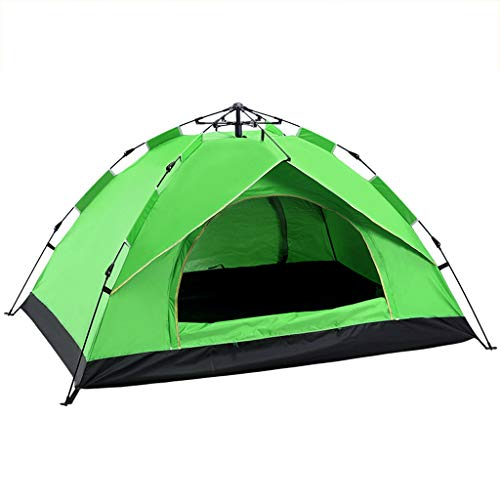 Camping Tent 2 Person Pop Up, Lightweight Easy Instant Automatic Tents, for Beach Family Garden Fishing Picnic,Green3~4People