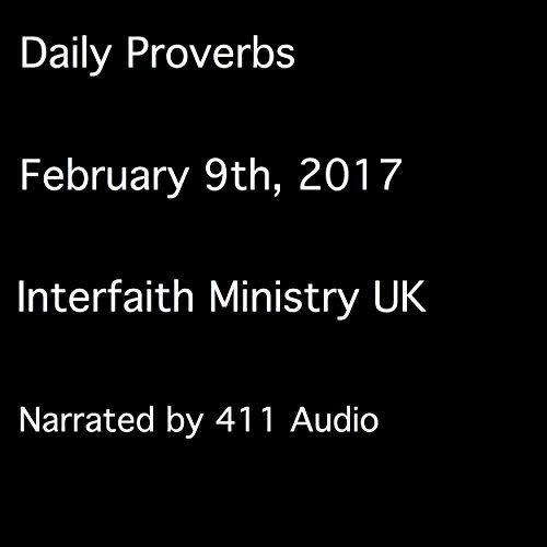 Daily Proverbs, February 9, 2017 audiobook cover art