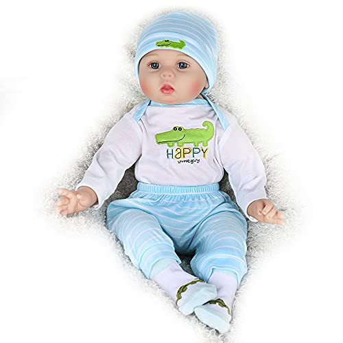 Kaydora Reborn Baby Doll Boy, 22 inch Soft Weighted Body, Cute Lifelike Handmade Silicone Doll