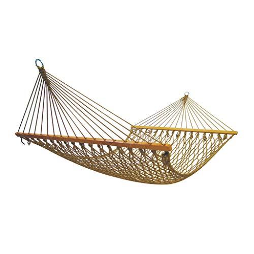 Yunyisujiao Hangmat, voor kamperen en vrijetijdsgebruik, voor op de camping en in de tuin, sterke dragende dubbele hangmat, hangmat met standaard voor entertainmenthangmatten voor kinderen