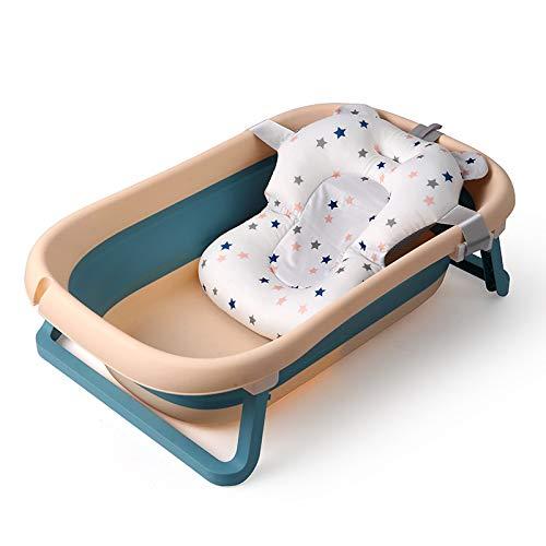TISI Baby-Badewanne, rutschfest und faltbar, mit Netz, Baby-Badewanne, tragbar, für 0-36 Monate, Blau