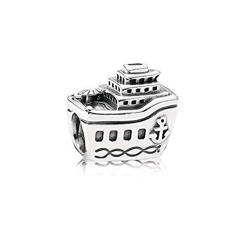 MiniJewelry Ship Boat Charm for Bracelets fits Pandora Charms Bracelets Cruise Navy Anchor Vacation Women Girls Sterling Silver Charm