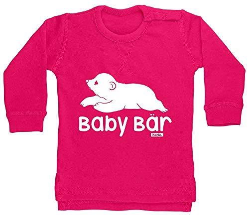 HARIZ Pull pour bébé Motif ours mignon Animaux de la jungle Plus Cartes cadeau Licorne fuchsia 18-24 mois