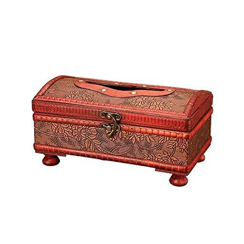 Taschentuchbox,Tissue Box Halter Holz Aufbewahrungbox Organizer Küche Tissue Box Desktop Serviettentasche Papier Handwerk Container Für Haushalt Badezimmer Arbeitsplatten Dekorative, Traubenmuster