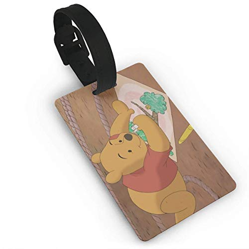 Winnie The Pooh Painting Luggage Tag Adjustable Strap Bag Baggage Name,Accessories Tags for Tourists
