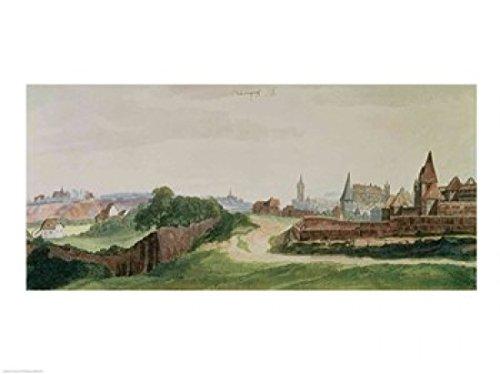 BrainBoosters Impressão de pôster vista de Nuremberg de Albrecht Durer - 91 x 61 cm - Grande