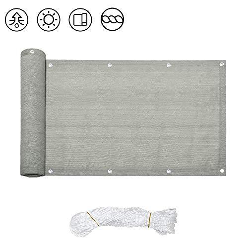 wolketon 90x600cm PVC Balkon Sichtschutz Balkonbespannung HDPE Balkonverkleidung, Balkonsichtschutz Windschutz Wasserdicht Blickdicht