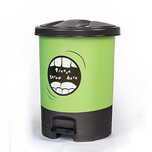 Cubos de basura para la cocina Pedal Botes de Basura Cuarto de baño de la casa Cocina Sala de Estar Cubierto de plástico Cubo de Basura para los pies Step-on Mülleimer