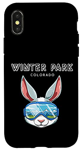 iPhone X/XS Winter Park Colorado USA Ski and Snowboard Rabbit Case