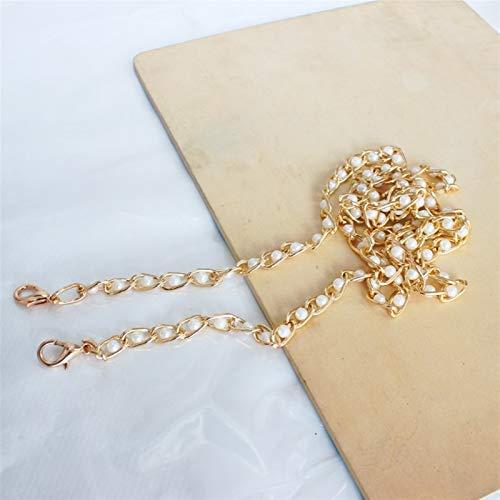 Clásico Nueva correa de perlas para bolsas Accesorios de bolsos Monedero Monedas de cinturón lindo Cadena de cuentas Tote Piezas de las mujeres para monedero bolso de mano cartera ( Color : Gold )