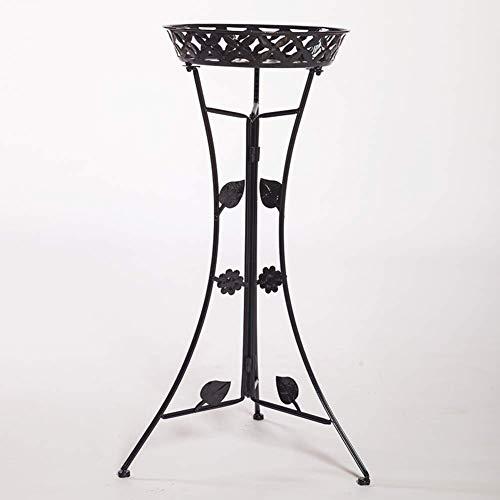 Hesolo Fioriera in Ferro battuto, monostrato, Soggiorno, Camera da Letto, angolare pensile a Fiori, pianta Stand-Black