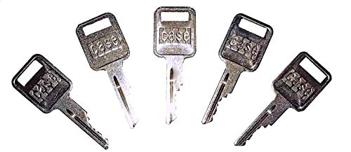 Keyman 5 Ignition Key Blanks with Logo Made to fit Case Heavy Construction Equipment