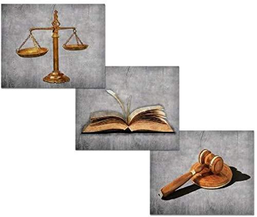 HHLSS Wunderschönes Bild 3x50x50cm ohne Rahmen Visuelle Kunst Dekor Waage der Justiz Anwalt Büro Dekor Bild Wandkunst Poster und Drucke für Anwalt Geschenk