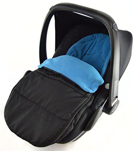 Chancelière pour siège auto compatible avec siège auto Kiddy Evolution Pro Bleu océan